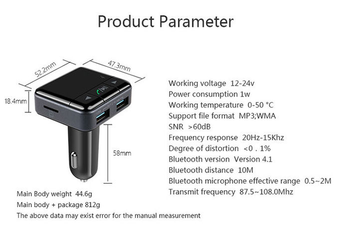 Bluetooth-Adapter-Stützhandy APP-Operation des Auto-V3.0 Stereo-